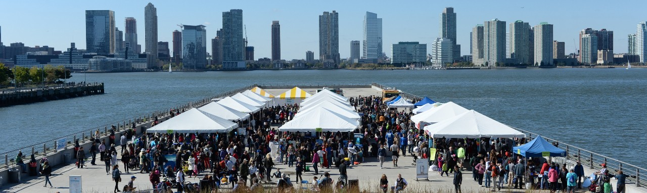 Submerge outreach event in downtown New York City attracts thousands of visitors each year in the fall.
